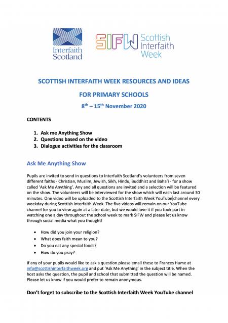 Primary School Teachers Notes